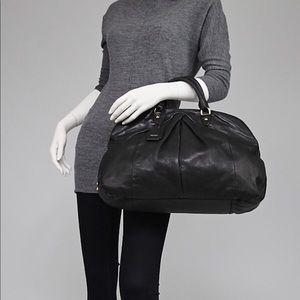 MIU MIU Black Soft Calf Pleated Frame Top Bag